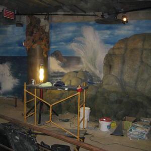 Aquarium of the Pacific - Otter Exhibit Mural